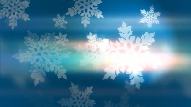 Kék háttér a hópelyhek loop-animációjához