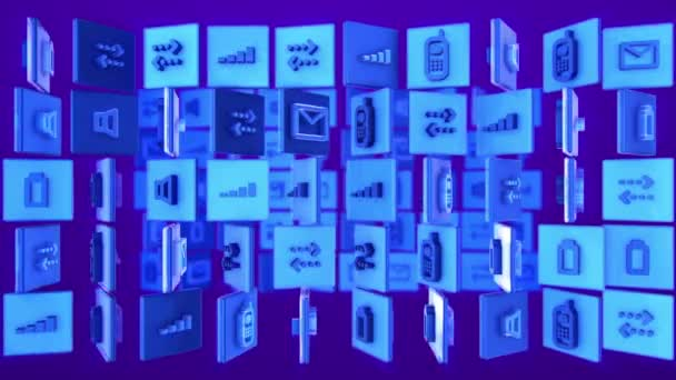 Mobiltelefon rendszer ikonok, wifi jel erőssége