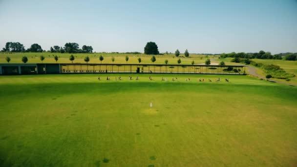 Training auf einem Golfplatz