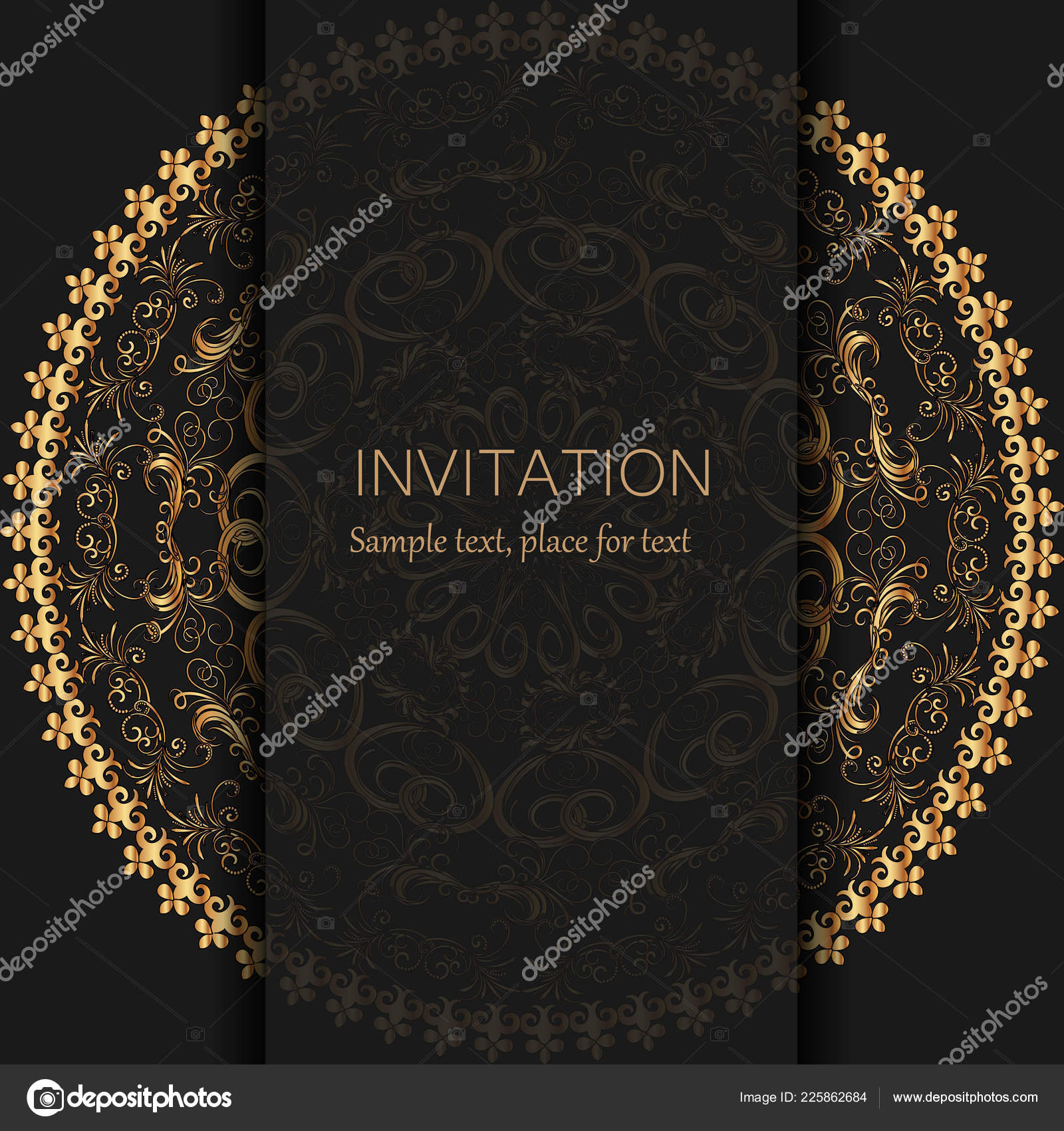 Invitation Template Modern Design Wedding Invitation Card Abstract ...