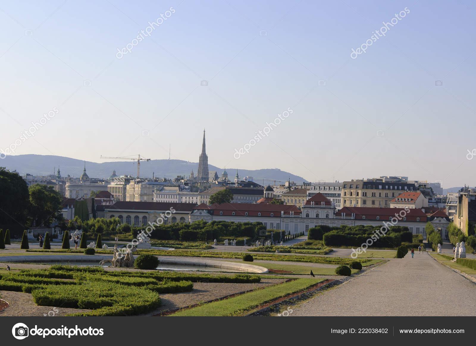 Vista Viena Palacio Belvedere Inferior Desde Las Terrazas