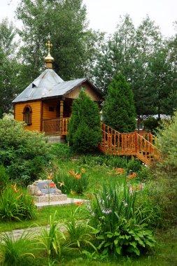 MURANOVO, RUSSIA - CIRCA JULY 2018 Church near holy water spring