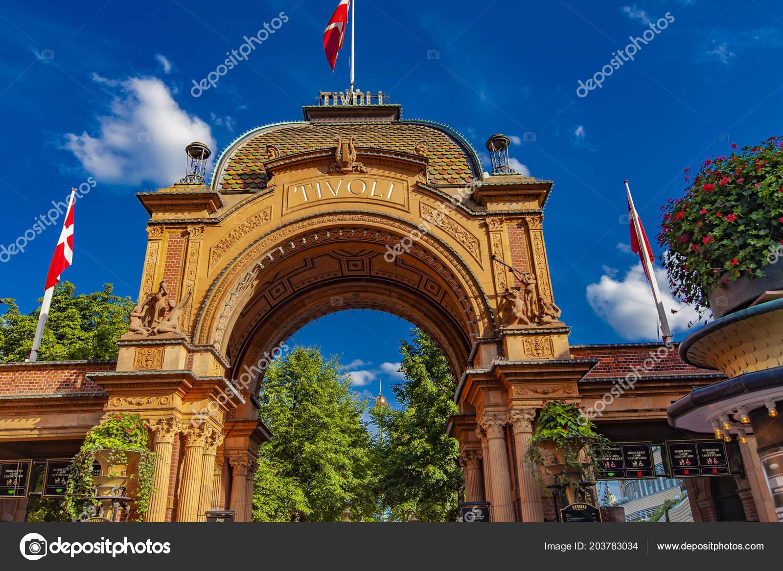 Copenhagen danimarca giugno 2018 ingresso parco divertimenti