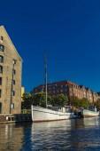 Fotografie Boats on the canal in Copenhagen, Denmark