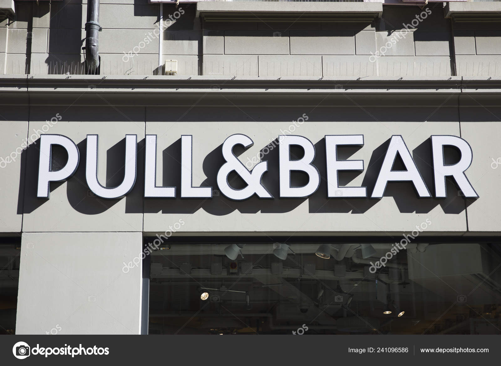 814aed6ad2 Lausanne Switzerland September 2018 Detail Pull Bear Store Lausanne  Switzerland — Stock Photo
