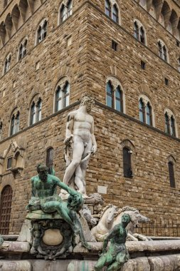 Detail of the Fountain of Neptune in Florence, Italy