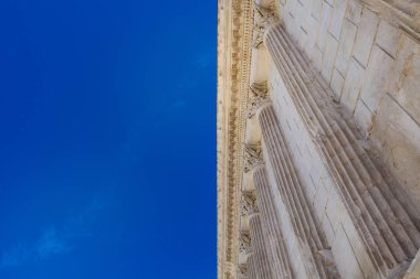 Maison Carree Roman temple in Nimes, France