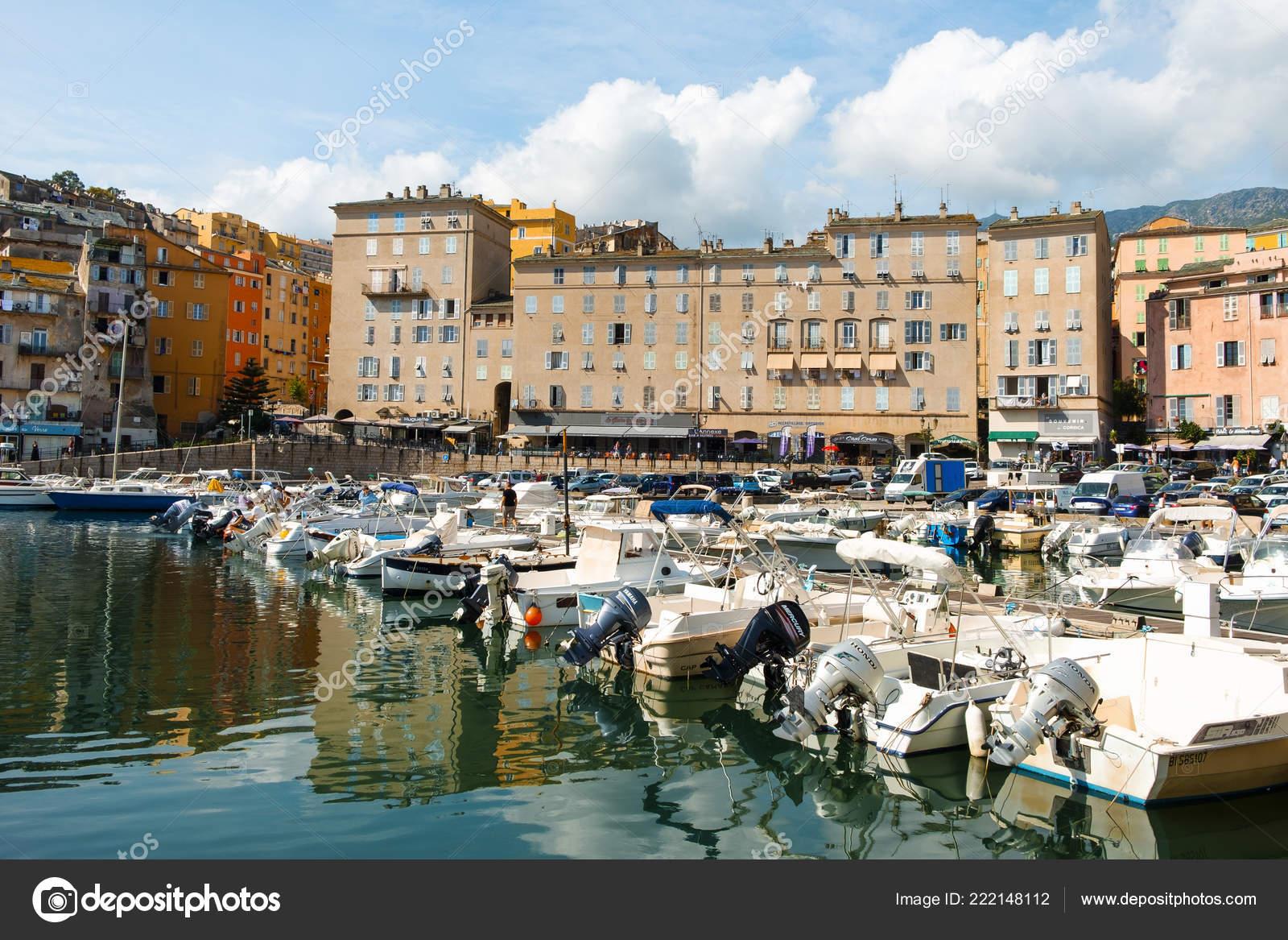 Bastia France September 2018 View Vieux Port Old Port Bastia Stock