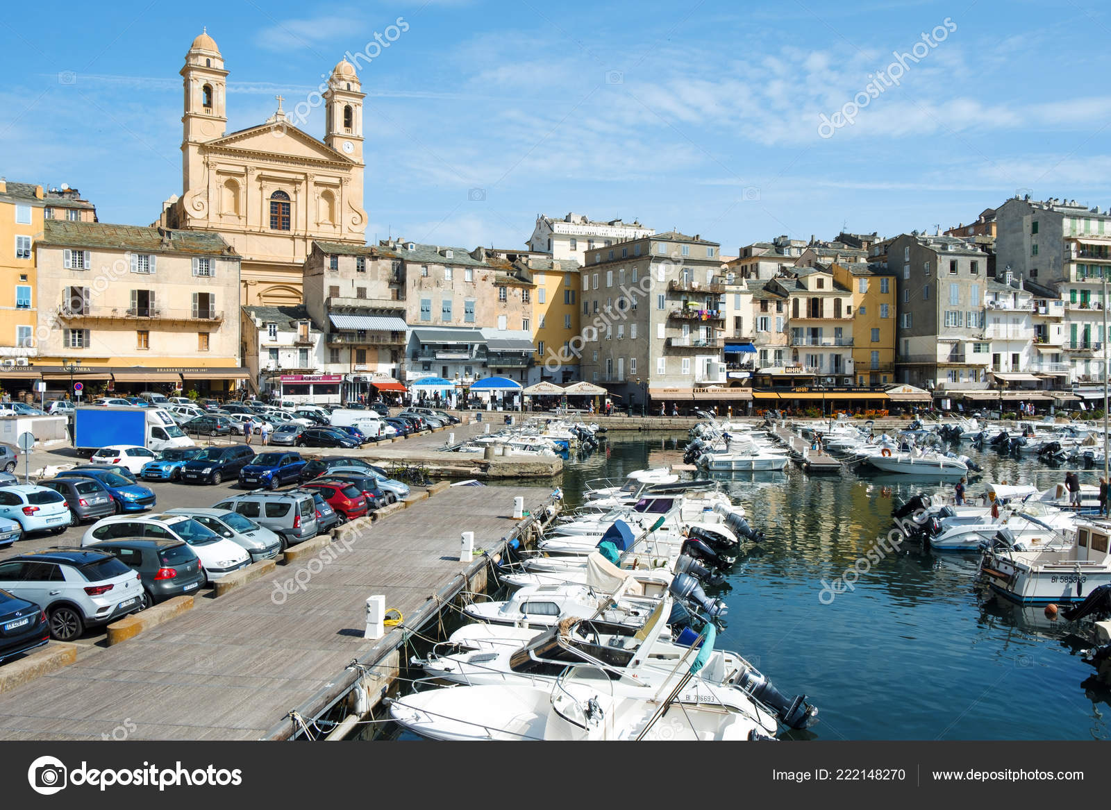 Bastia France September 2018 View Vieux Port Old Port Bastia Stock