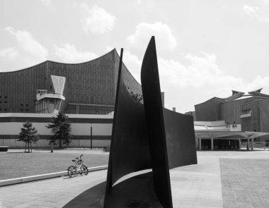 Philharmonie in Berlin in black and white
