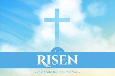 Christian religious design for Easter celebration. Vector