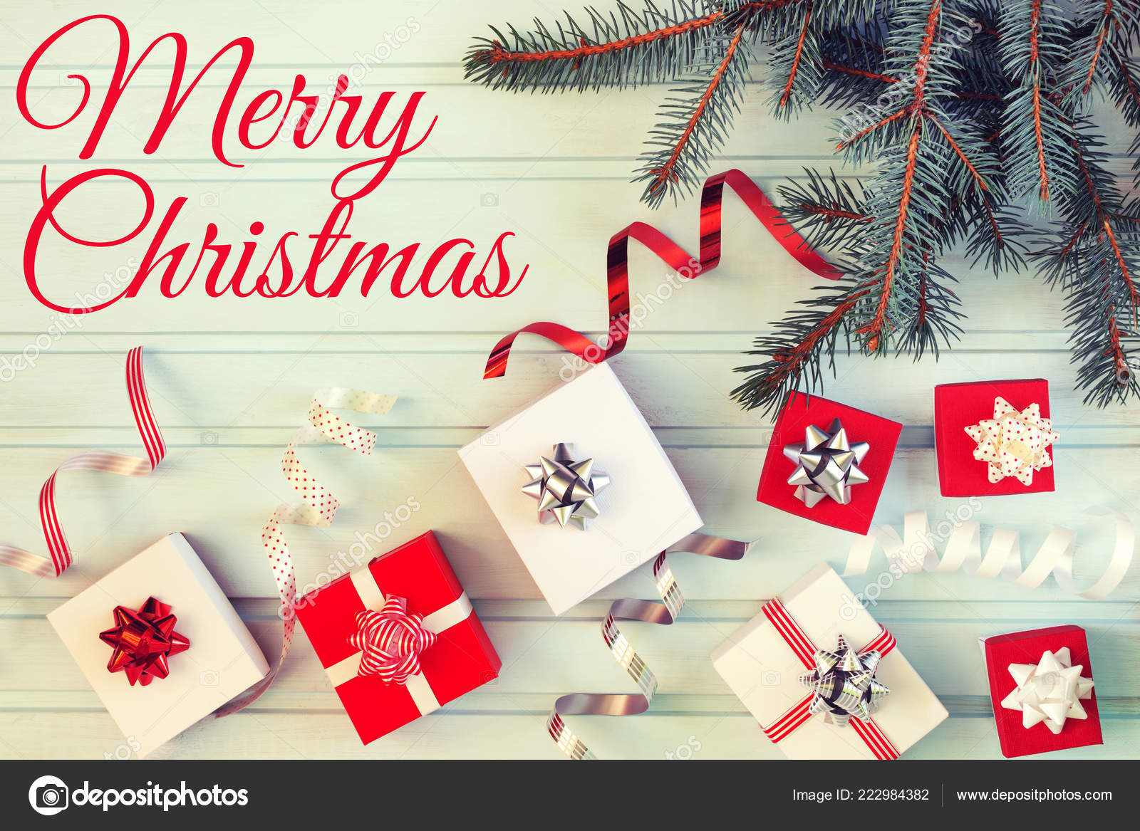Merry Christmas Greeting Card — Stock Photo © Switch-84 #222984382