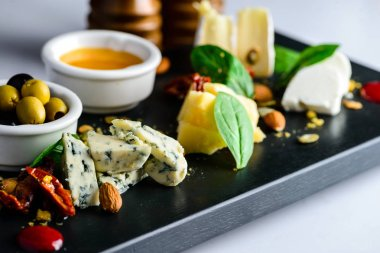 Tasty cheese plate