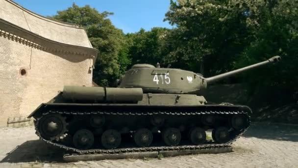 POZNAN, POLAND - MAY 20, 2018  Famous T-34 Soviet era tank