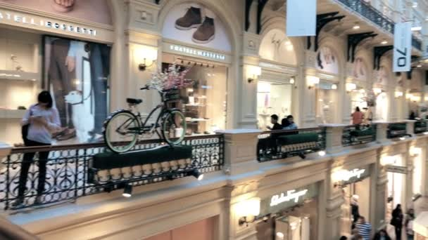 RUSSIA, MOSCOW - MAY 6, 2018. GUM shopping mall interior
