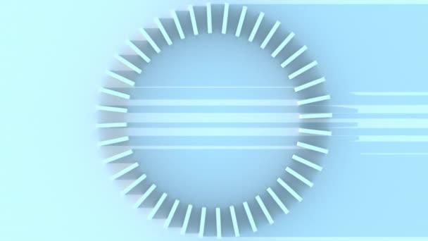 Rotace abstraktní kruhové stupnice. Čas, měření a technologie související pohyb na pozadí