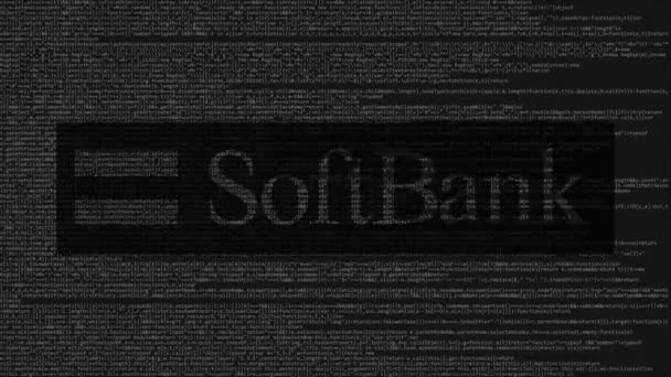 Softbank Logo Made Of Source Code On Computer Screen Editorial