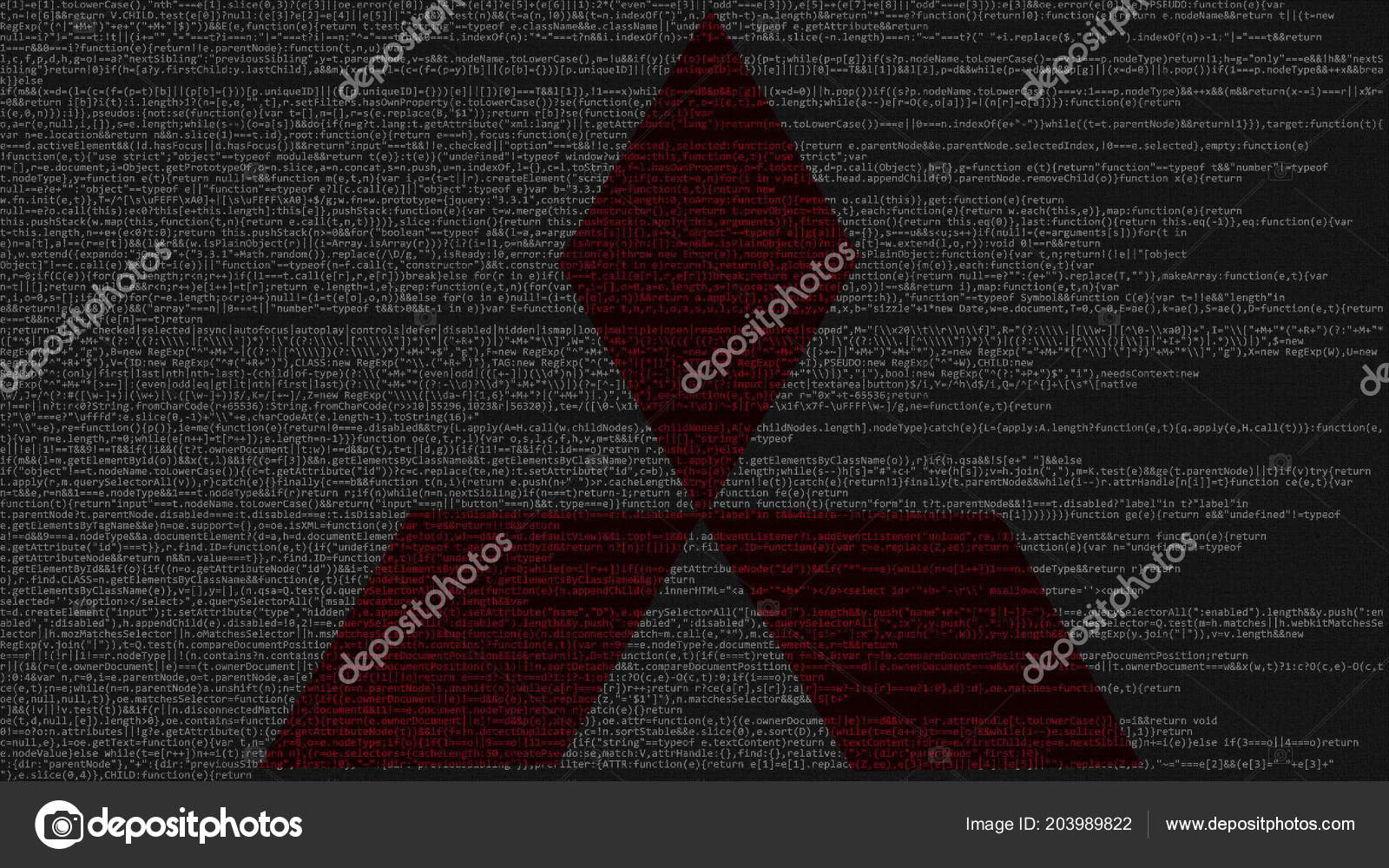 Mitsubishi Logo Made Of Source Code On Computer Screen. Editorial 3D  Rendering U2014 Fotografia De