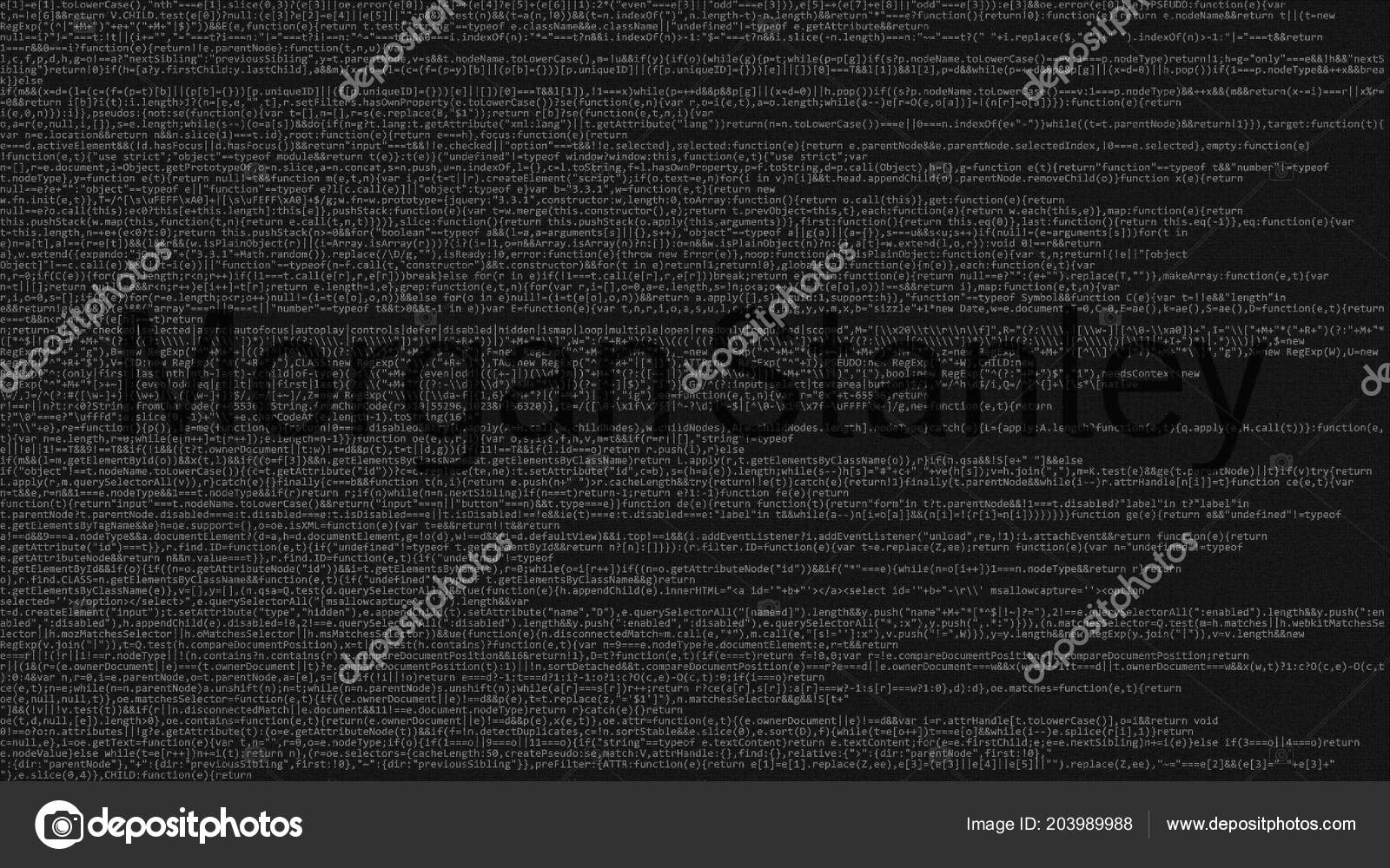 Morgan Stanley logo made of source code on computer screen