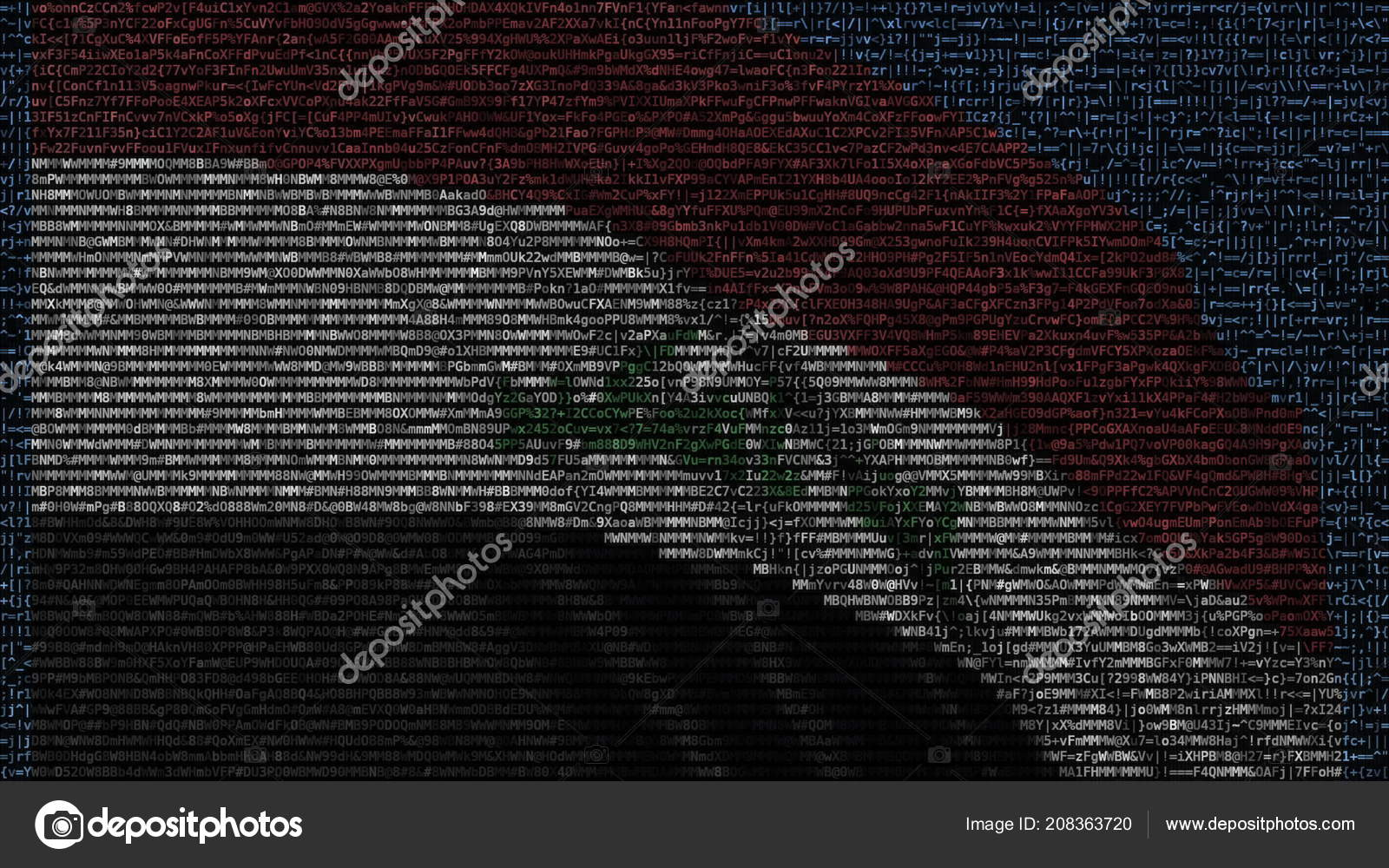 Waving Flag Of Iraq Made Of Text Symbols On A Computer Screen