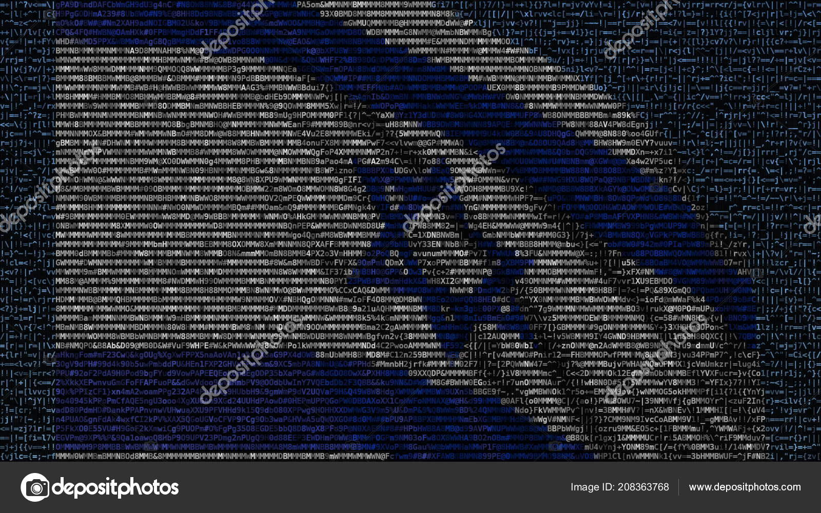 Waving Flag Of Israel Made Of Text Symbols On A Computer Screen