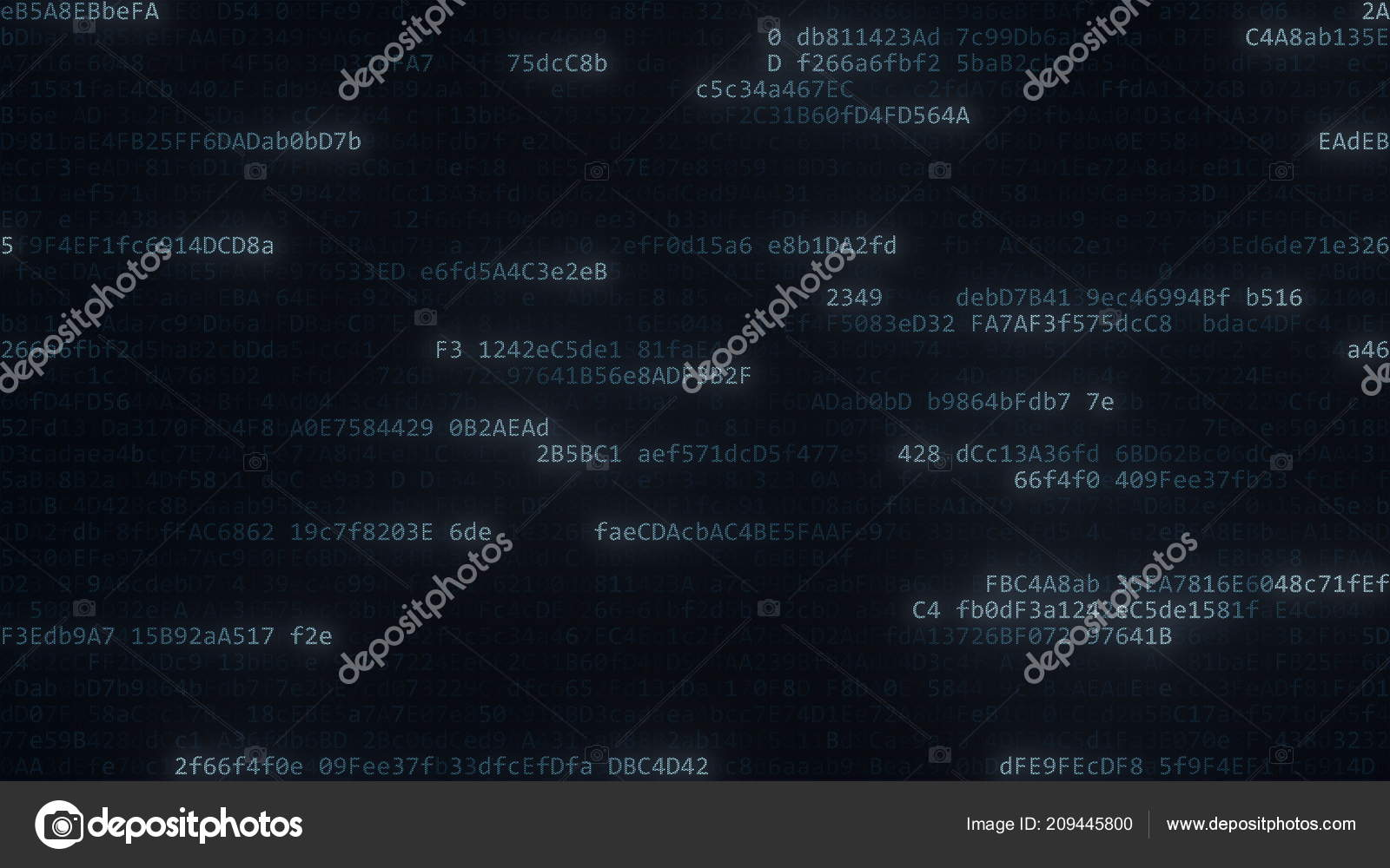 Data Streams Computer Code Symbols On The Screen 3d Rendering