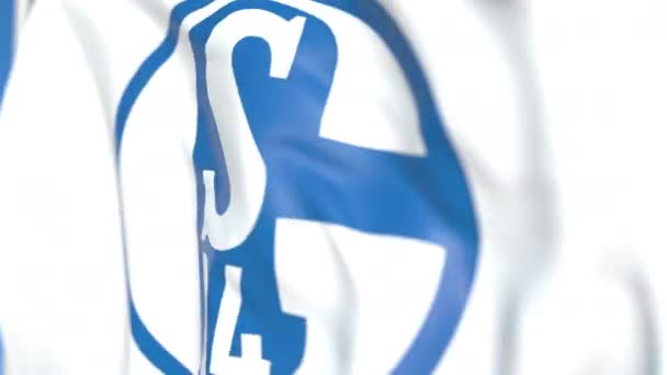 Flying Flag With Fc Schalke 04 Football Club Logo Close Up Editorial Loopable 3d Animation Stock Video C Alexeynovikov 294820920