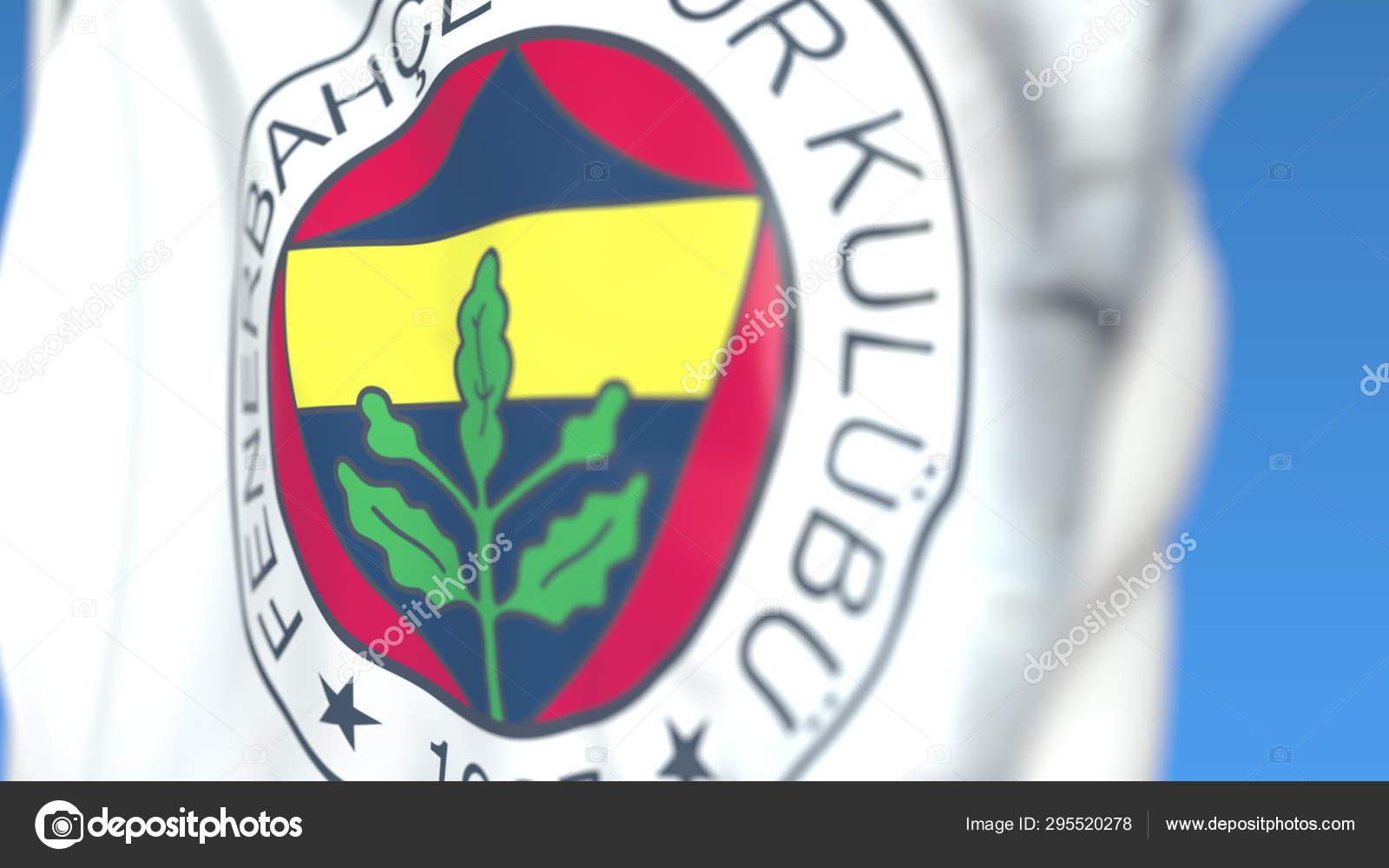 Waving Flag With Fenerbahce Football Club Logo Close Up Editorial 3d Rendering Stock Editorial Photo C Alexeynovikov 295520278