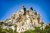 Estate bella vista sulla montagna su Kyrenia, Repubblica turca di Cipro del Nord, Castello di SantIlario