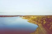 Luftaufnahme der Insel Ruissalo. turku. Finnland. nordische Natur l