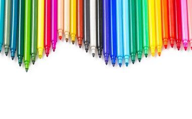 colorful felt pens background