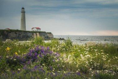 Cap des Rosiers Lighthouse in Quebec. Quebec, Canada.