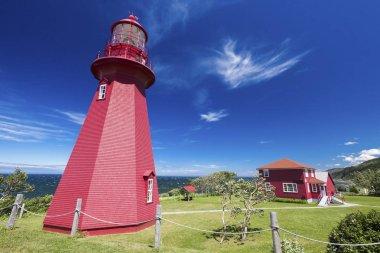 La Martre Lighthouse. Quebec, Canada.