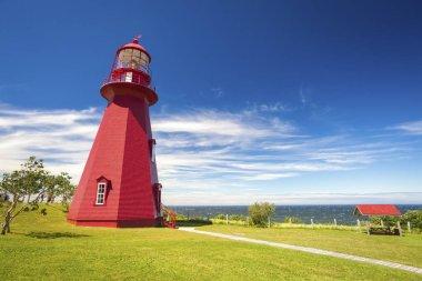 La Martre Lighthouse in Canada. Quebec, Canada.