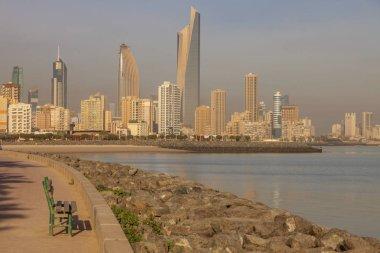 Panorama of Kuwait City from the beach