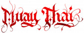 Photo Muay Thai boxing calligraphy tattoo lettering