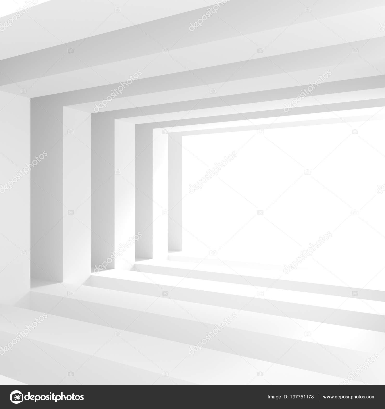 Abstract Interior Background White Room Window Modern Architecture Wallpaper Rendering