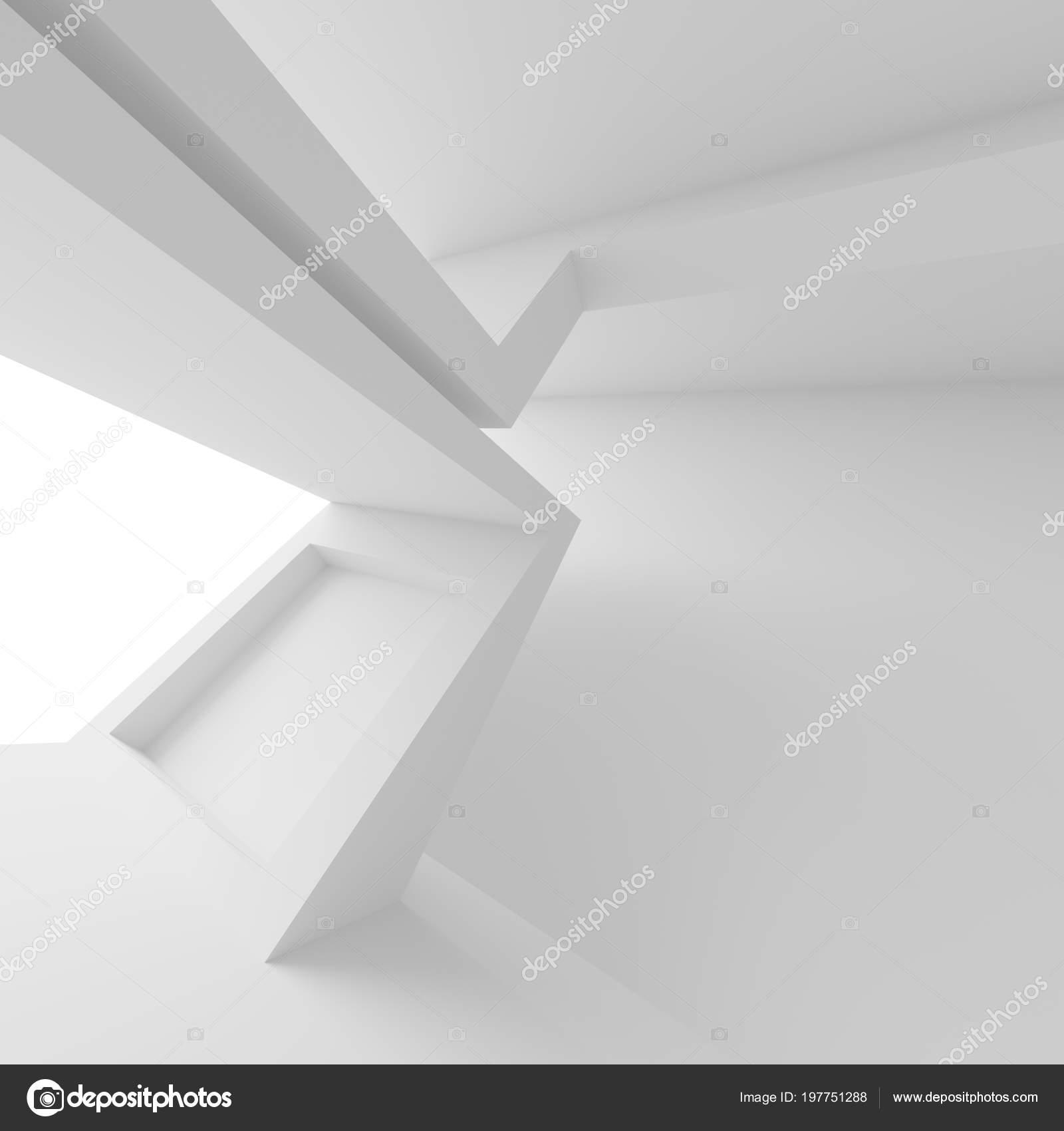 Abstrakte Innere Hintergrund Weisser Raum Mit Fenster Moderne Architektur Wallpaper Stockfoto