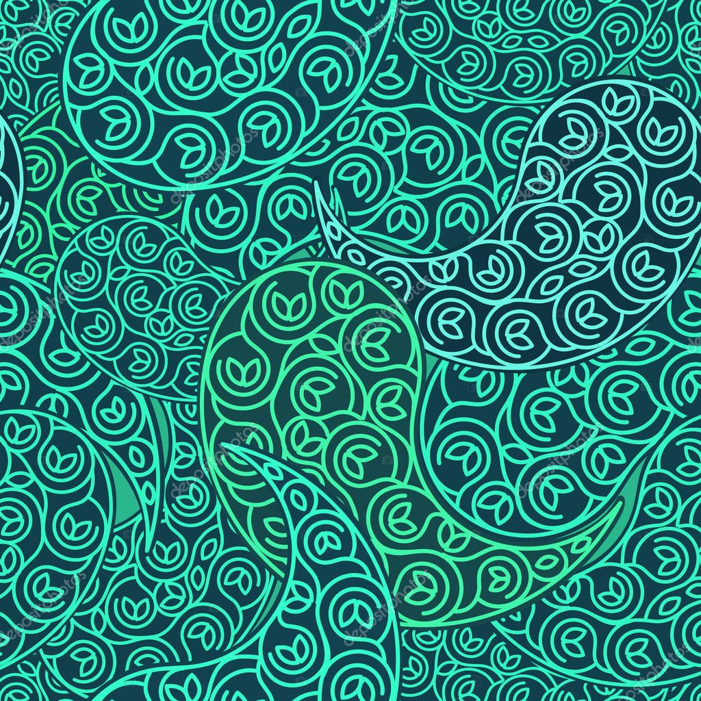 Vector green Seamless pattern eco design.