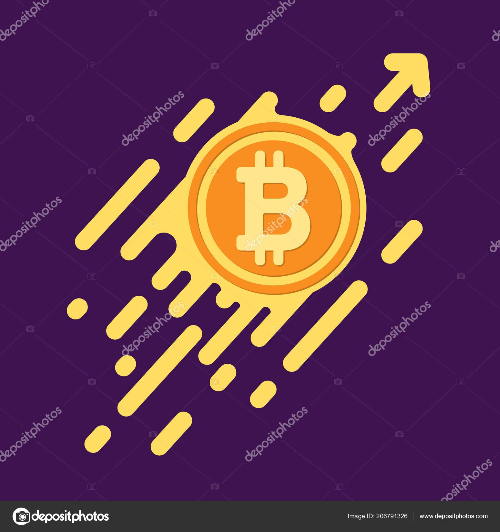 Bitcoin Symbol In Flat Design For Internet Money A Symbol Of Cr
