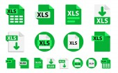 File format extensions icons. Collection of vector icons.