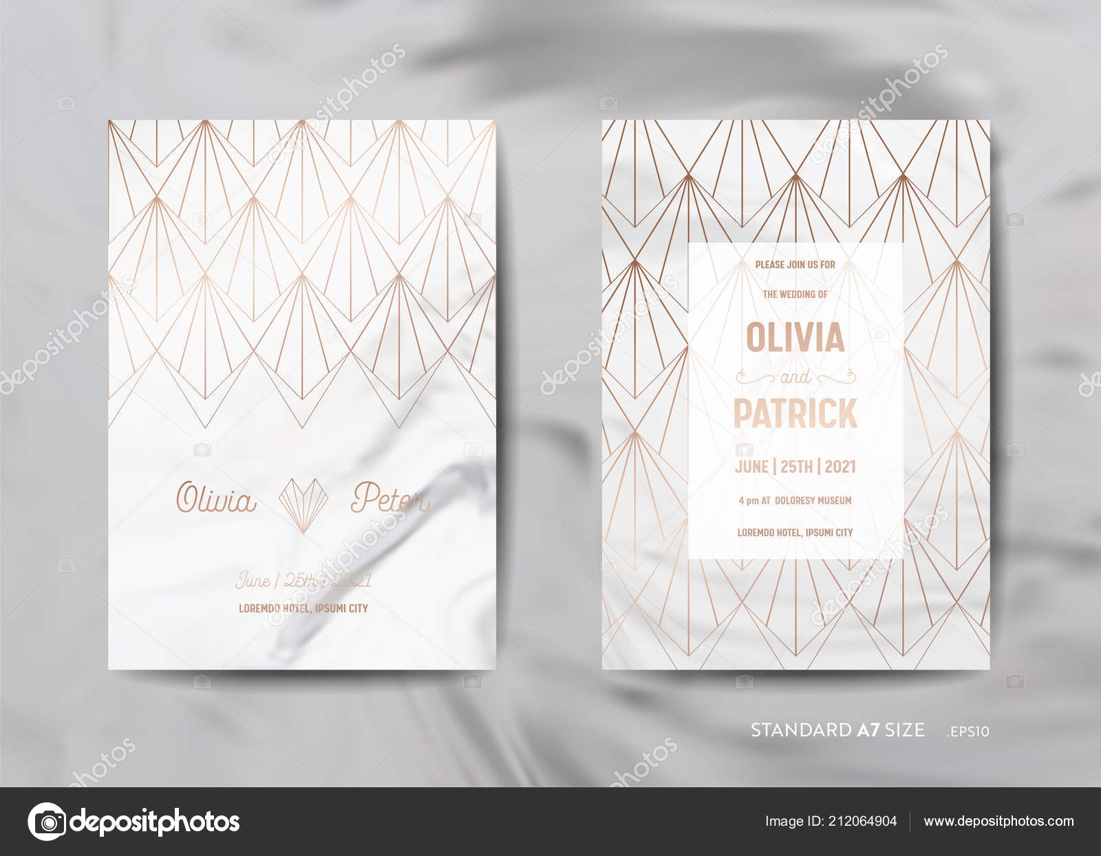 Wedding Invitation Cards Collection. Save the Date, RSVP with trendy ...