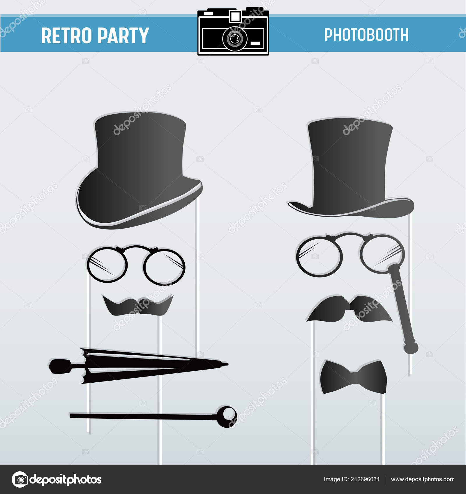 photo about Printable Moustaches identify Photograph: printable props for booth Movember Retro occasion