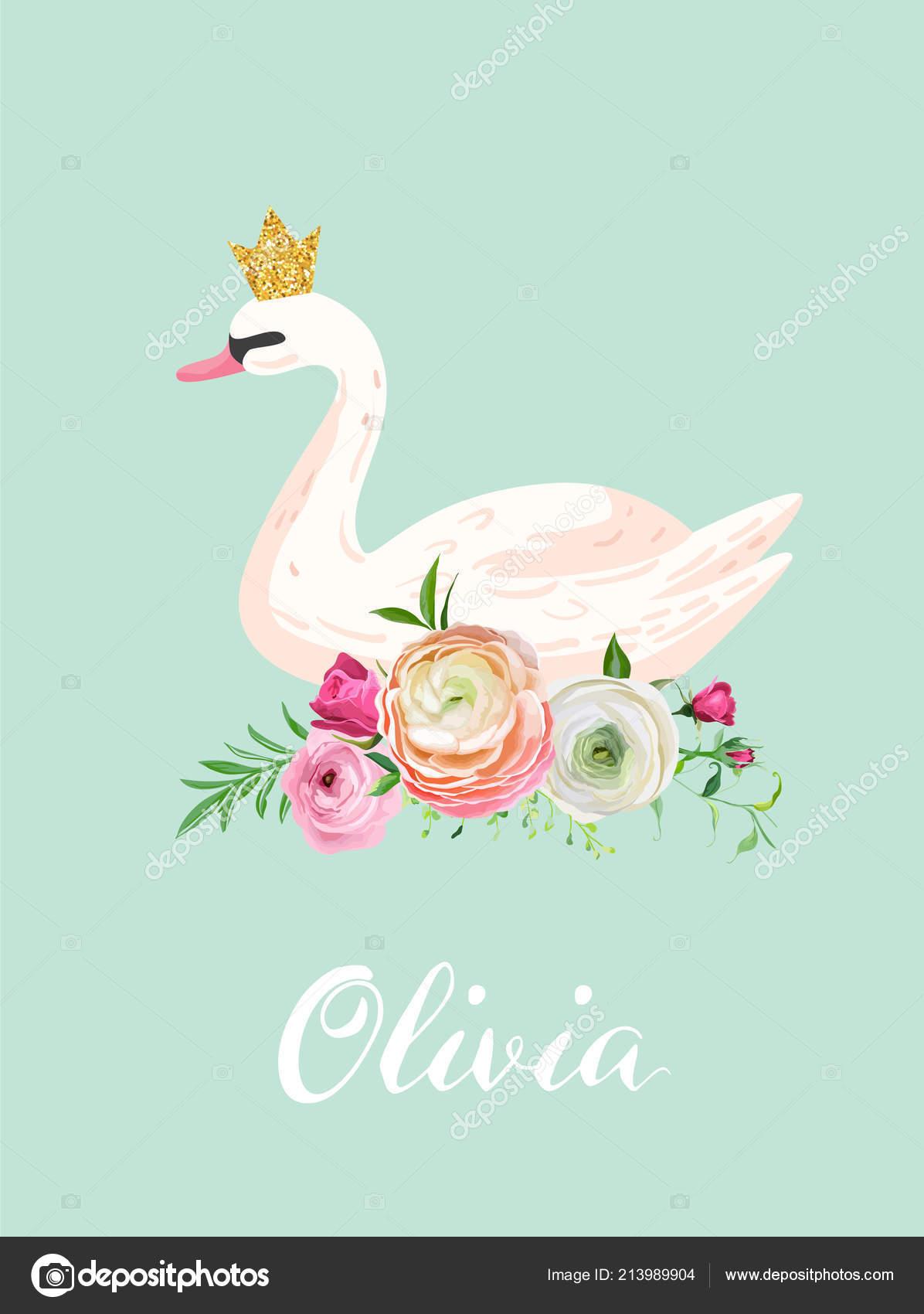 ilustración de bella swan con lugar para el nombre de bebé para