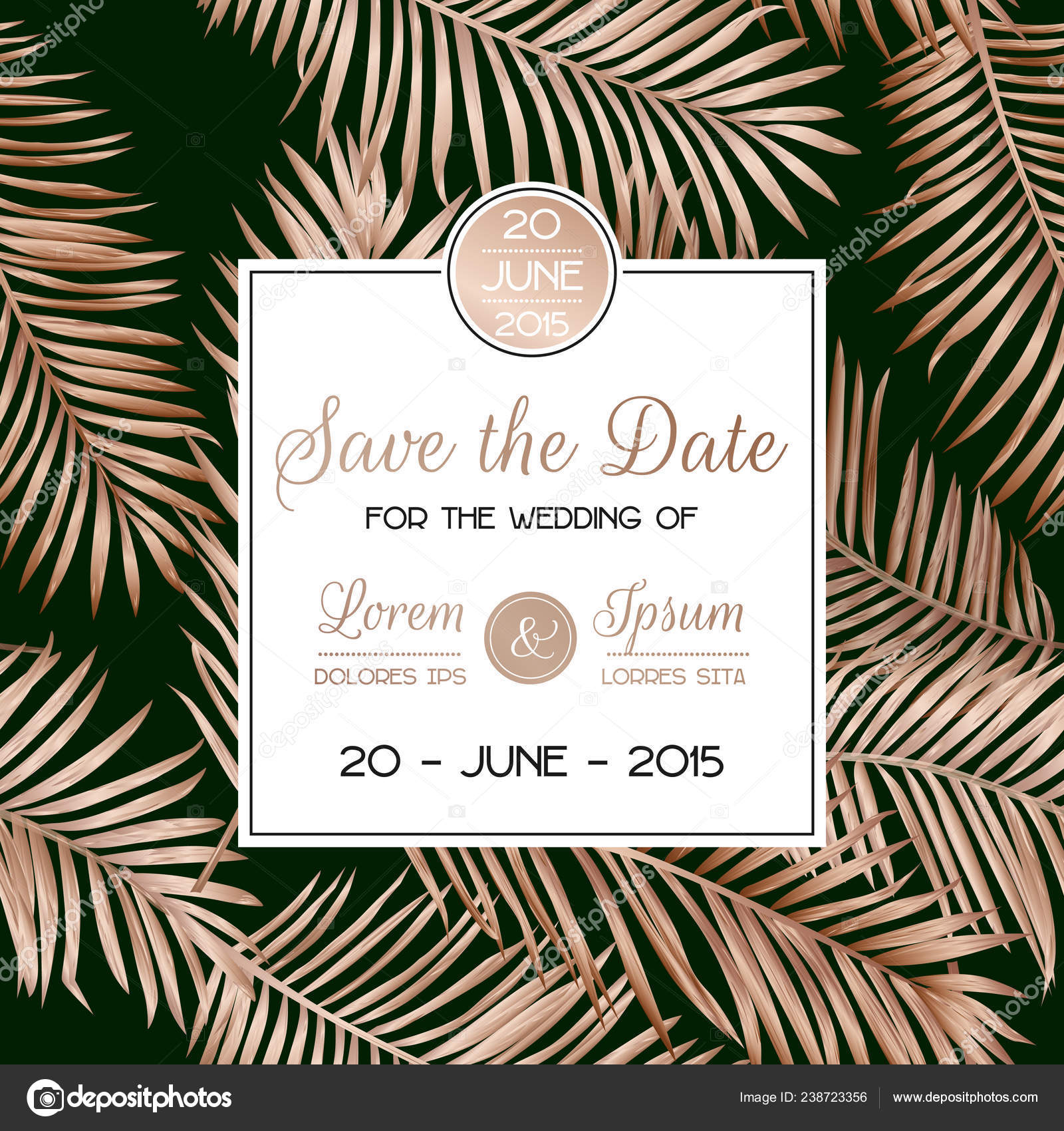 Palm Leaf Invitation Template Wedding Tropical Palm Leaves Invitation Card Save The Date Template With Golden Foil Design Luxury Floral Tropic Rsvp Layout Vector Illustration Stock Vector C Woodhouse 238723356 See more ideas about tropical invitations, invitations, tropical. palm leaf invitation template wedding tropical palm leaves invitation card save the date template with golden foil design luxury floral tropic rsvp layout vector illustration stock vector c woodhouse 238723356