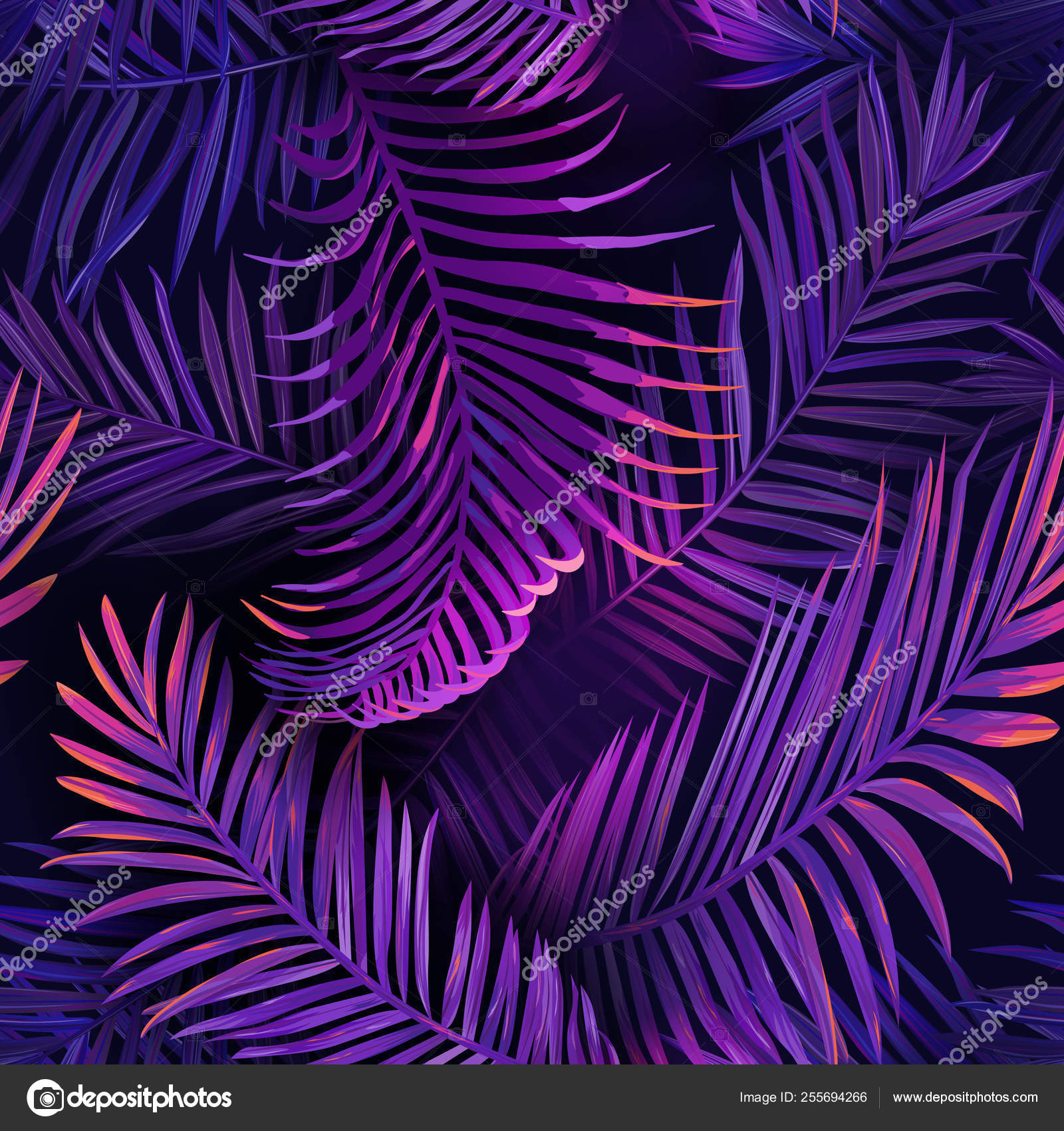 Tropical Neon Palm Leaves Seamless Pattern Jungle Purple Colored Floral Background Summer Exotic Botanical Foliage Fluorescent Design With Tropic Plants For Fabric Textile Vector Illustration Stock Vector C Woodhouse 255694266 Find the perfect tropical leaves stock photos and editorial news pictures from getty images. tropical neon palm leaves seamless pattern jungle purple colored floral background summer exotic botanical foliage fluorescent design with tropic plants for fabric textile vector illustration stock vector c woodhouse 255694266