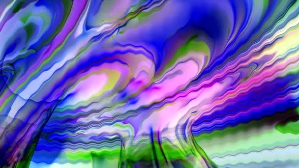 tanec barevných čar na obrazovce