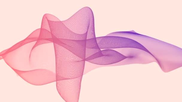 tanec z barevných vzorů na obrazovce