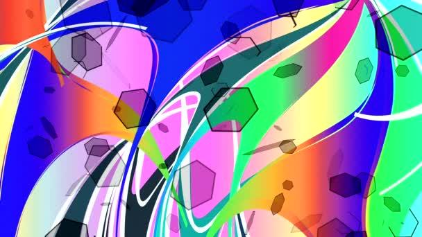taneční barevných obrázků na screenn