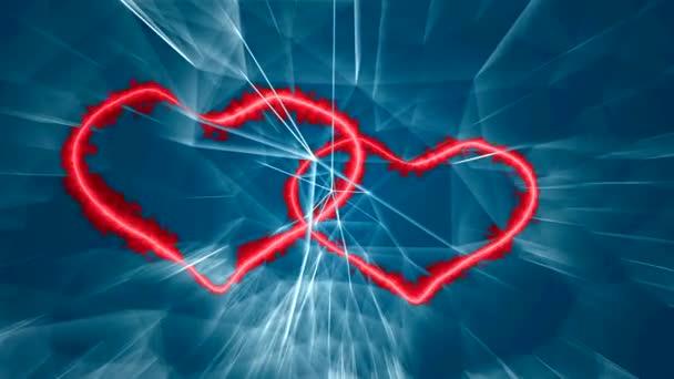 milující srdce bijí v rytmu